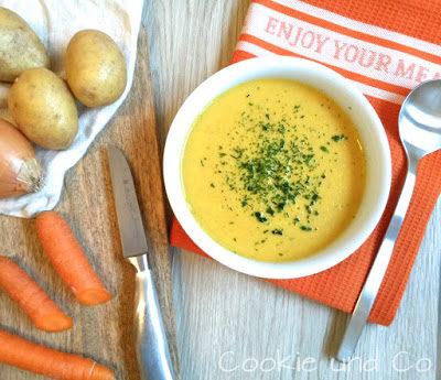 Kartoffel-Möhren-Cremesuppe mit Thermomix
