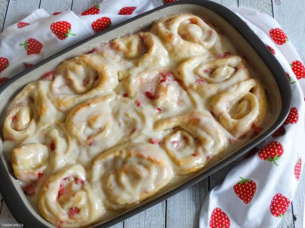 Erdbeer-Pudding-Schnecken