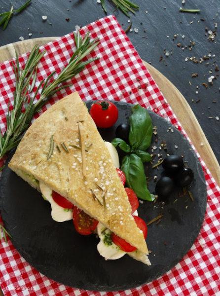 Pizzabrot Sandwich (mit Focaccia)