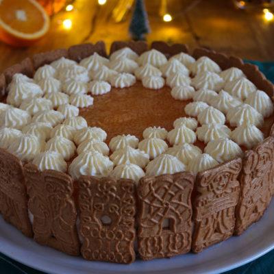 Spekulatius-Torte mit Mandarinen (no bake)
