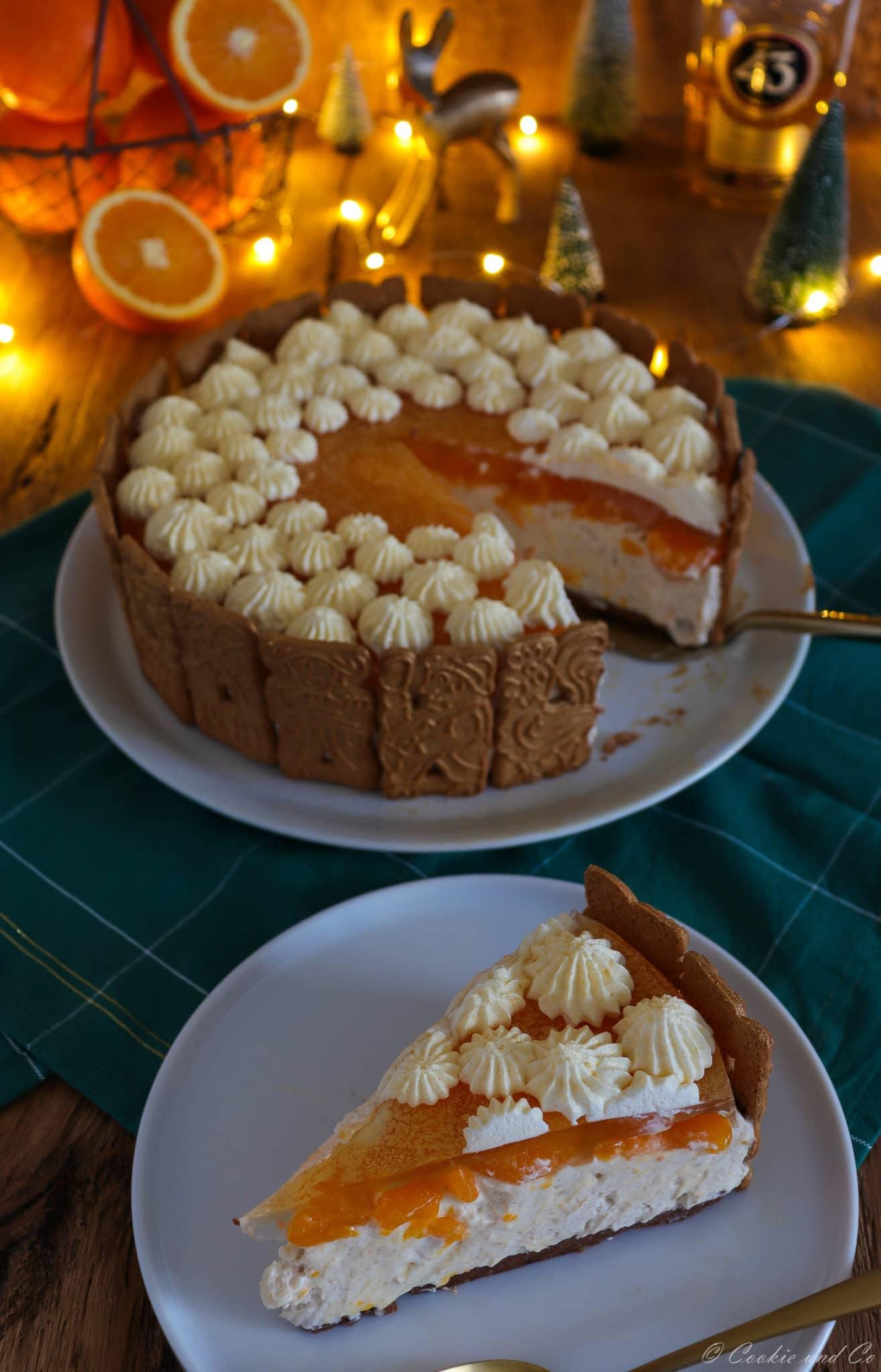 Spekulatius-Torte mit Mandarinen
