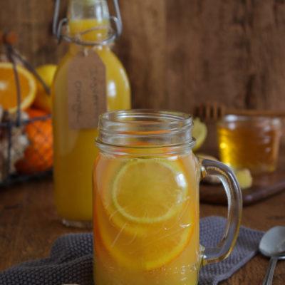 Ingwer-Orangenkonzentrat mit Honig