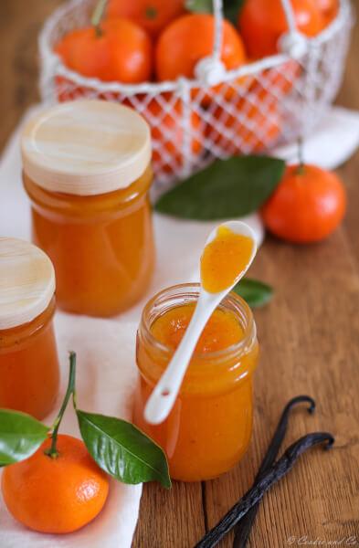Mandarinen-Vanille-Konfitüre