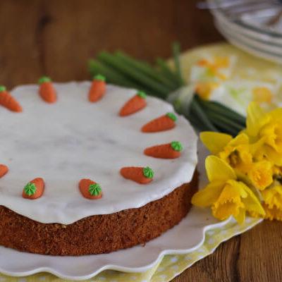 Rüblitorte – nicht nur zu Ostern (glutenfrei möglich)