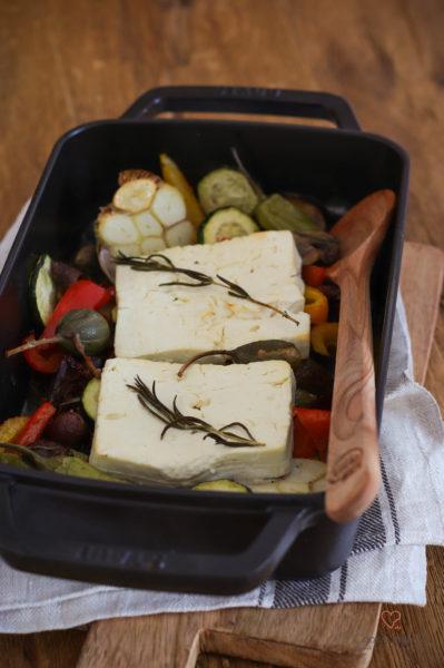 Gebackener Feta mit Gemüse