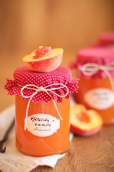 Pfirsich-Vanille-Konfitüre