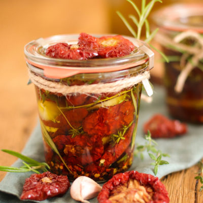 Pomodori secchi sott'olio – Antipasti (Eingelegte getrocknete Tomaten)