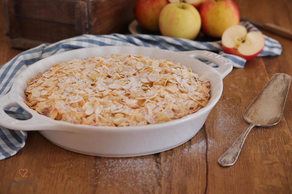 Apfel-Mandel-Kuchen (mit Marzipan)