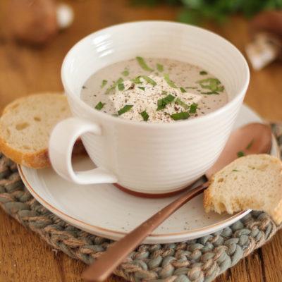 Champignon-Rahmsuppe: einfach & gut
