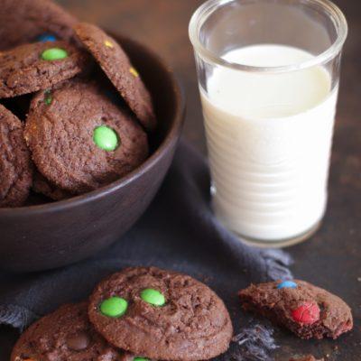 Choco Cookies mit M&M´s: Buntes November-Soulfood