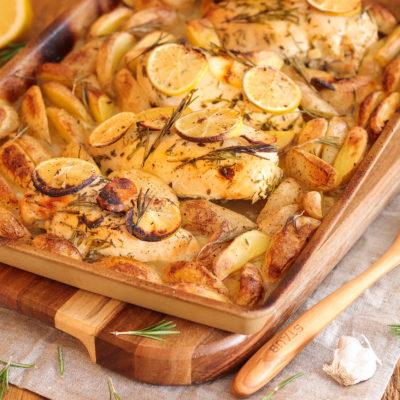 Zitronen-Huhn mit Honig (Ofengericht)