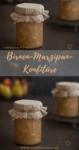 Birnen-Marzipan-Konfitüre im Glas