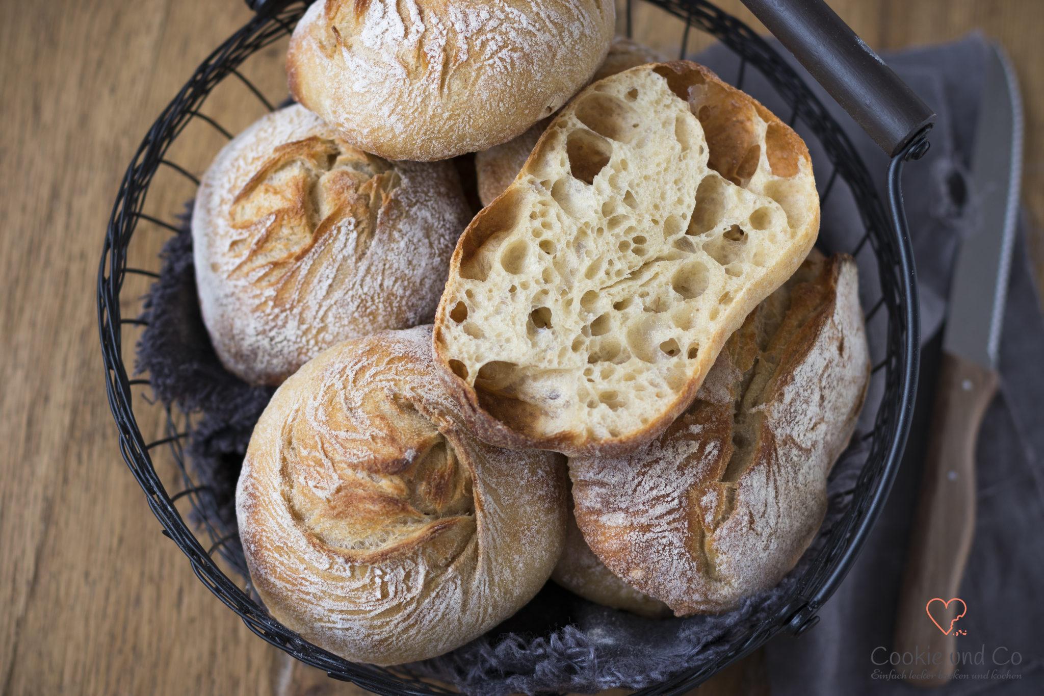 No knead Brötchen – genial einfach