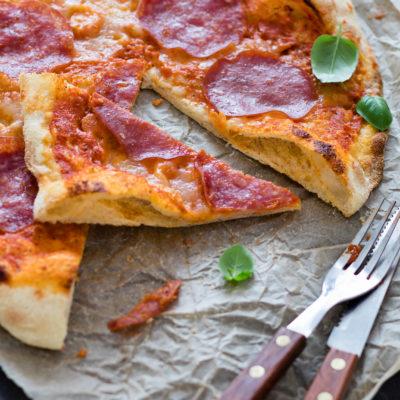 No knead Pizza (Pizzateig)