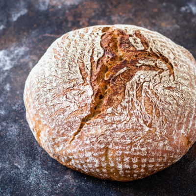 No Knead Weizenmischbrot