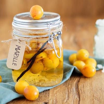 Grundrezept für Fruchtlikör | Mirabellenlikör mit Vanille