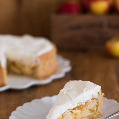 Apfel-Wein-Torte mit Calvados