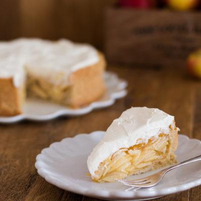 Apfel-Cidre-Torte mit Calvados