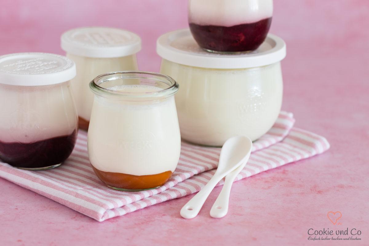 Selbstgemachter Joghurt im Weckglas