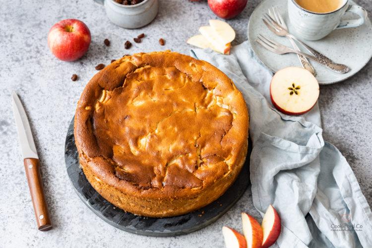 Oma's Apfel-Quark-Kuchen mit Grieß (ohne Boden)