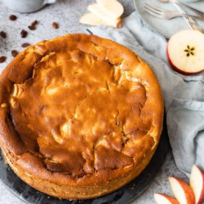 Oma's Apfel-Quark-Kuchen (ohne Boden)