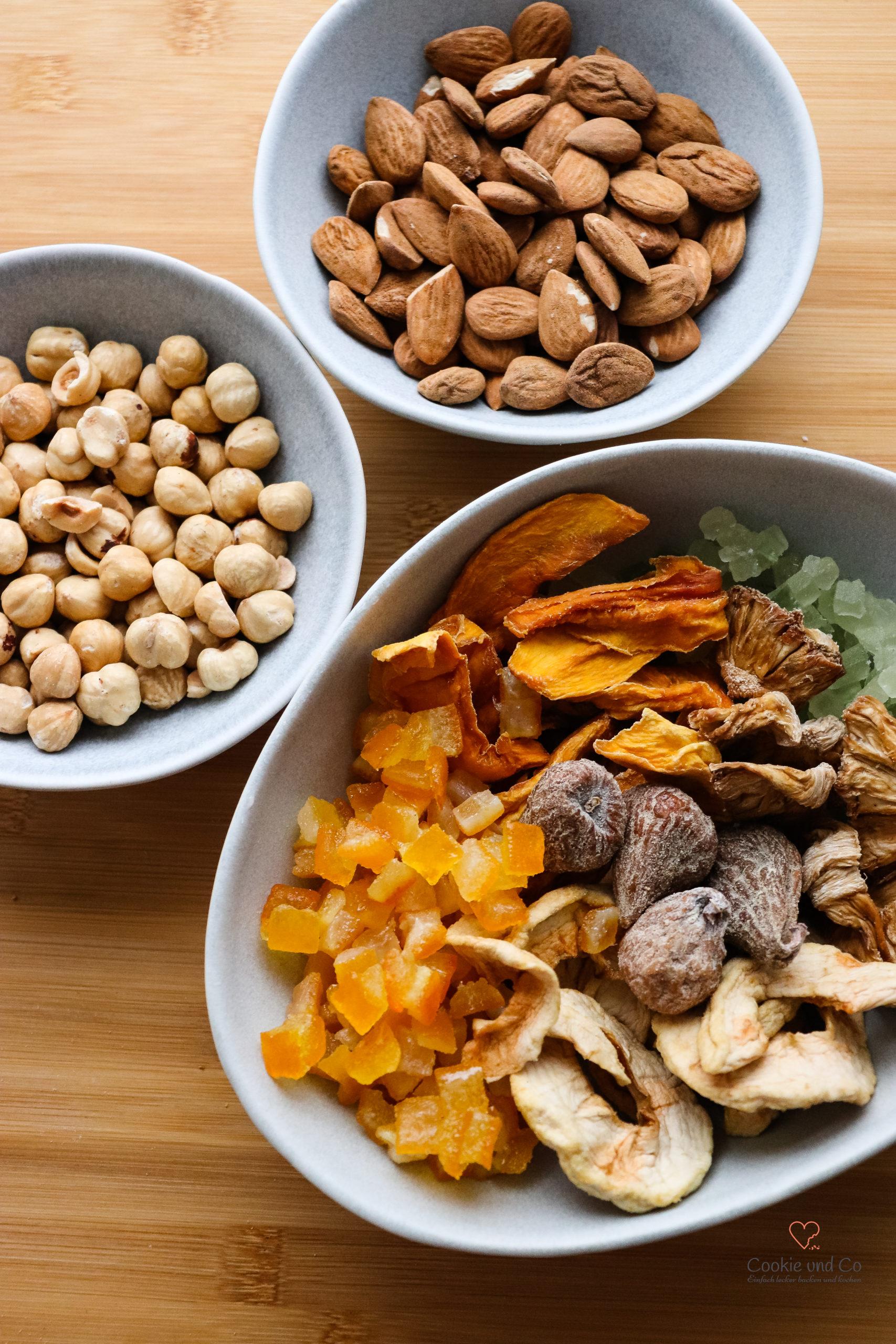 Zutaten für fruchtige Lebkuchen