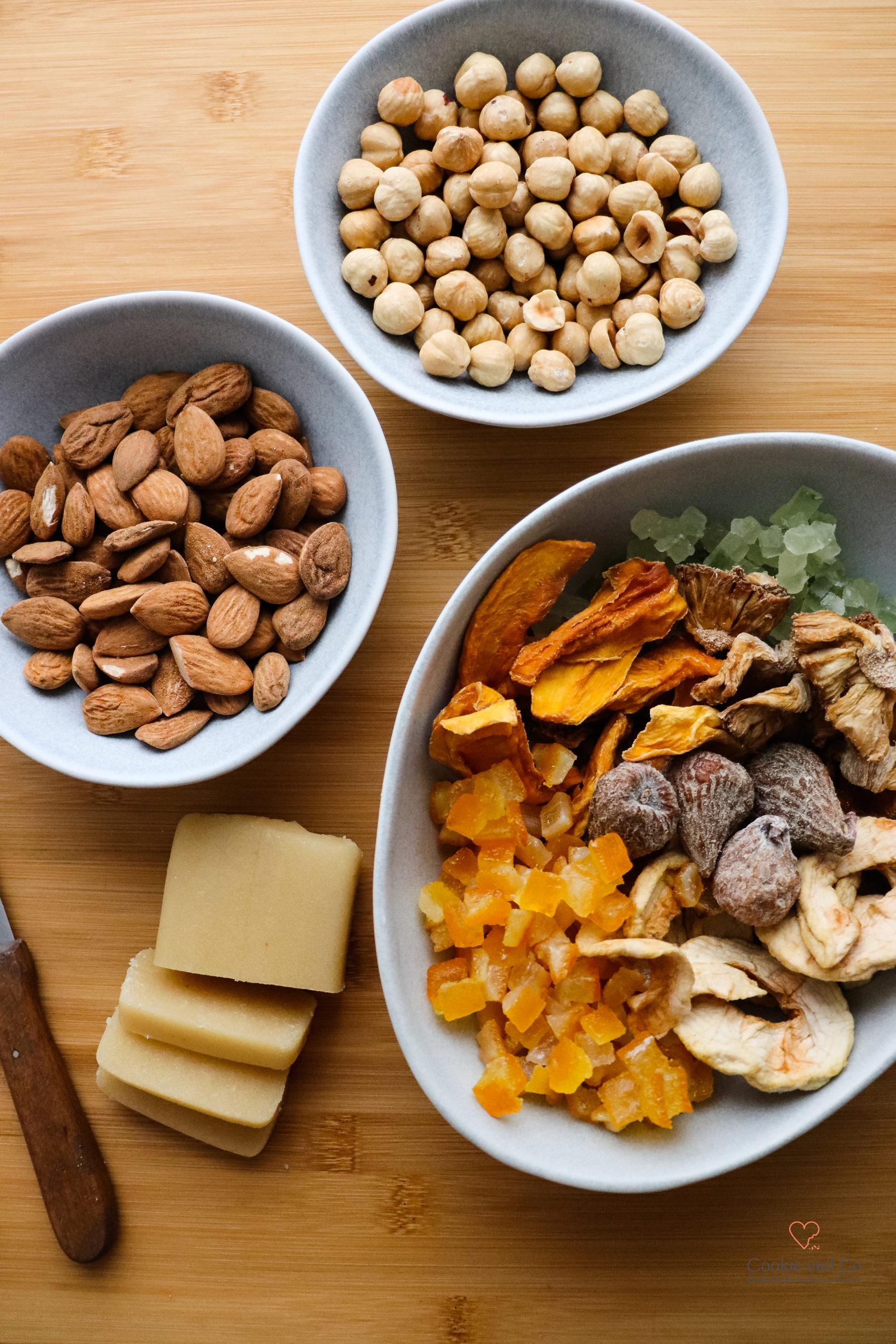 Zutaten für fruchtige Elisen Lebkuchen