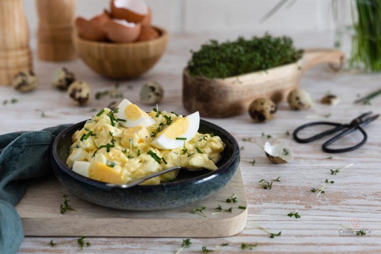 schneller Eiersalat mit Schnittlauch