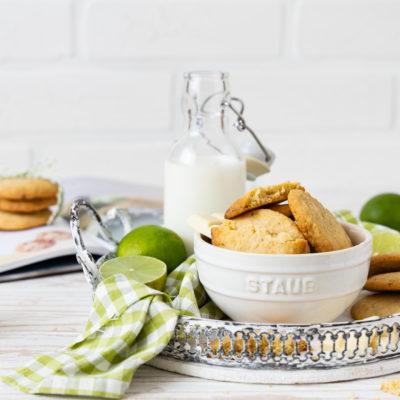 Limetten Cookies mit weißer Schokolade | Buch Rezension: Glücksmomente