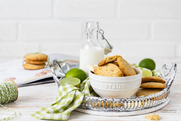 Limetten Cookies mit weißer Schokolade