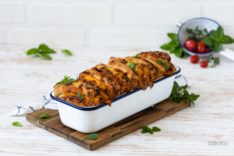 Pizza-Zupfbrot Pull Apart Bread