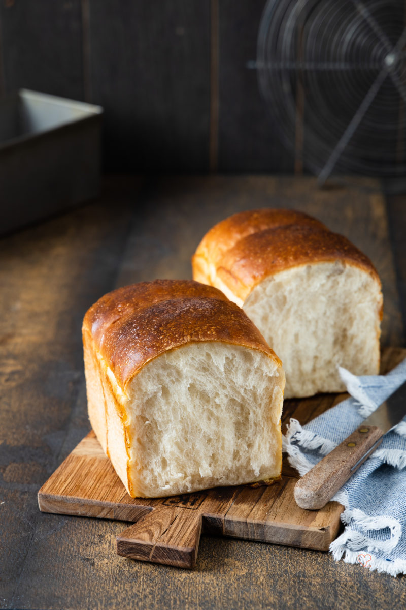 Softes Sandwichbrot, ein goldener Butter-Toast