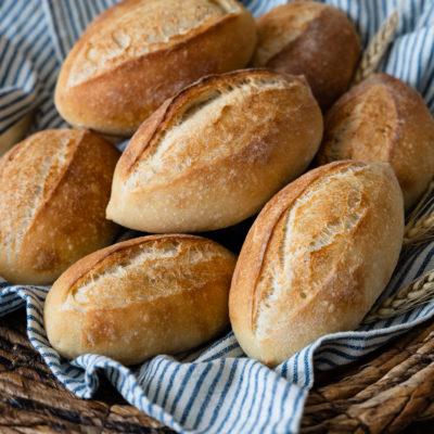 Mailänder Schrippen | Schnelle Brötchen mit wenig Hefe