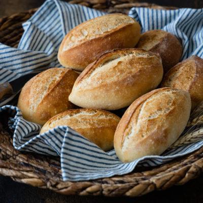 Mailänder Schrippen   Schnelle Brötchen mit wenig Hefe