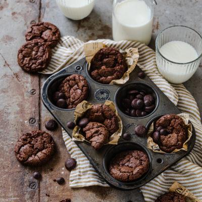 Brownie Cookies (mit und ohne Sauerteig) | Auffrischrezept