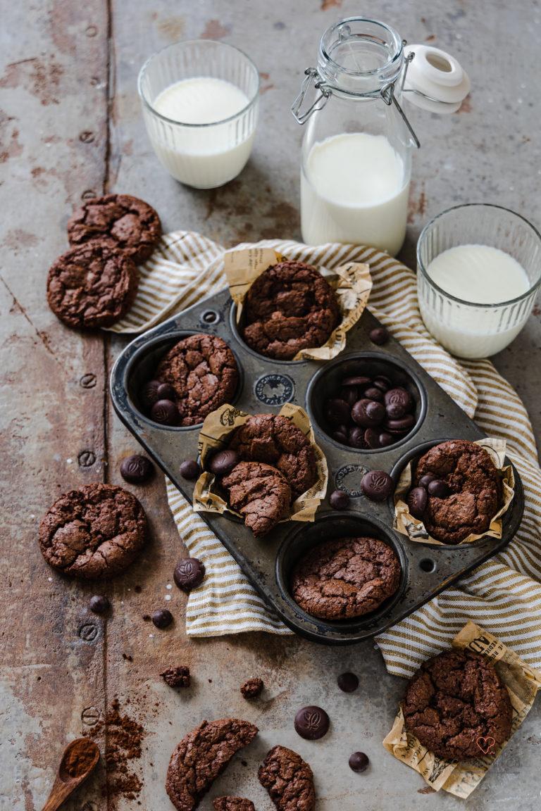 Brownie Cookies mit Sauerteig