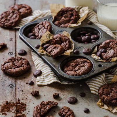 Brownie Cookies (mit Sauerteig)