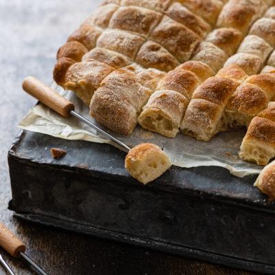 Fondue Brot | Einfacher No Knead Teig mit wenig Hefe