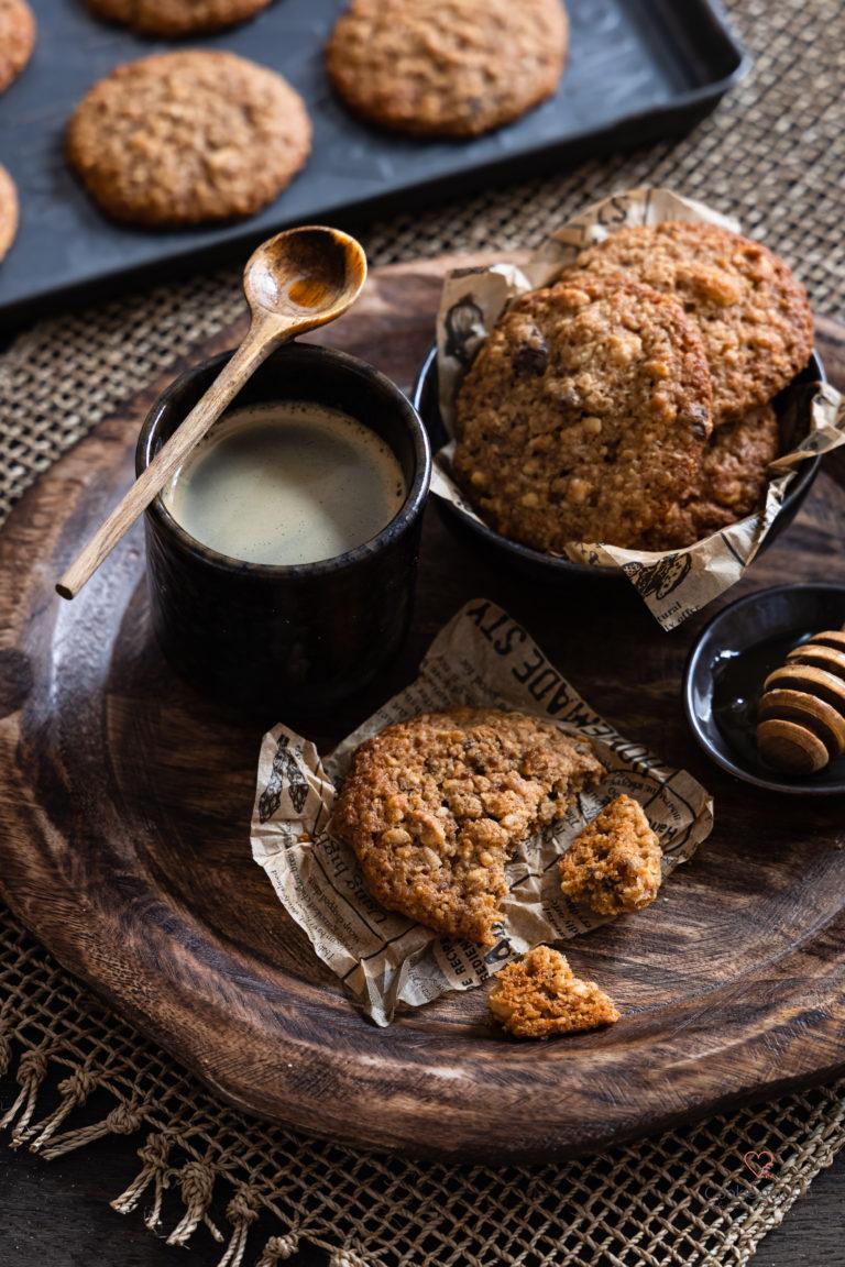 Müslikekse, leckere Cookies ohne Industriezucker mit Vollkornmehl aus Dinkel