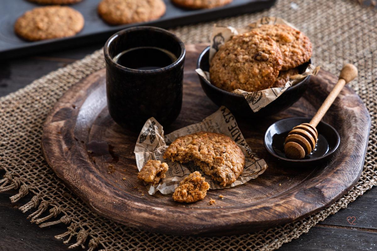 Müslicookies ohne Industriezucker mit Vollkornmehl aus Dinkel